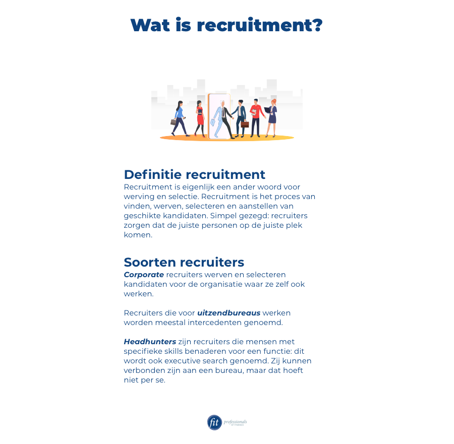 Definitie recruitment en soorten recruiters